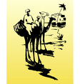 Bedouins on camels in the desert vector | Price: 1 Credit (USD $1)