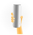 big can drink in hand vector image vector image