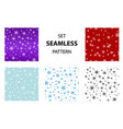 big set seamless snow pattern simple vector image vector image