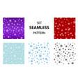 big set seamless snow pattern simple vector image