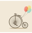 bike with balloons vector image vector image