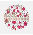 Blood Donation red flat vector image vector image