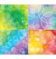 Bokeh backgrounds vector image vector image