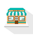 bookstore icon with long flat shadow on white vector image