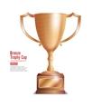 Bronze Trophy Cup Winner Concept Award Design vector image vector image