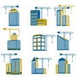 Building construction icons vector image