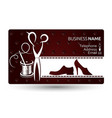 business card repair shoe vector image vector image