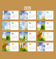 calendar for 2019 year design print vector image vector image