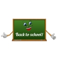 Cartoon isolated school blackboard icon vector image