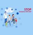 china battles coronavirus outbreak coronavirus vector image