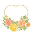 Chrysanthemum holiday card vector image