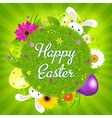 Colorful Happy Easter Card vector image vector image