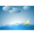 Concept schematic sea view background vector image
