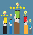customer feedback through the online channel vector image vector image