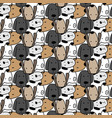 cute dog pattern background vector image vector image