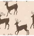 deer pattern vector image