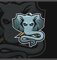 elephant e sport logo vector image
