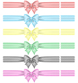 Festive bows with ribbons vector image vector image