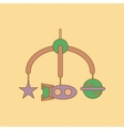 flat icon on background Kids toy mobility vector image