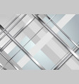 grey abstract technology metallic stripes vector image vector image