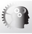 head with brain icon vector image