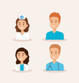 healthcare medical staff characters vector image vector image