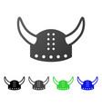 horned helmet flat gradient icon vector image vector image