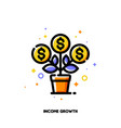 icon flourishing money tree with dollar signs vector image