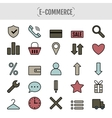 Icon set e-Commerce flat design shopping symbols vector image vector image