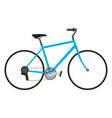 isolated bicycle icon vector image vector image