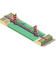 isometric suspension bridge vector image