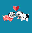 love dogs pugs vector image