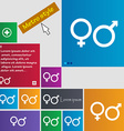 male and female icon sign buttons Modern interface vector image