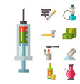 medical drugs icon laboratory science vector image vector image