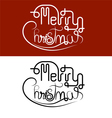 Merry Christmas lettering icon vector image