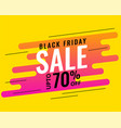 modern memphis style black friday sale banner vector image