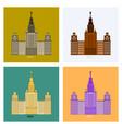 msu moscow university vector image