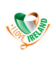 national flag ireland and the vector image vector image