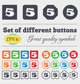 number five icon sign Big set of colorful diverse vector image