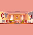 old dirty living room in victorian style vector image