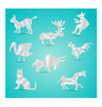 origami animals vector image vector image