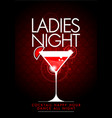 party ladies night flyer with cocktail glass vector image vector image