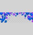 purple balloons vector image vector image