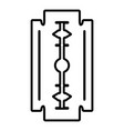 razor blade icon outline style vector image vector image