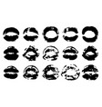 real lips silhouette collection lips print and vector image
