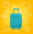 realistic polycarbonate suitcase baggage for vector image vector image