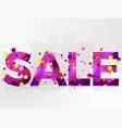 Sale banner isolated on white background bright
