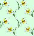 Seamless Daffodil pattern vector image