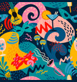seamless pattern with carnival objects and vector image vector image