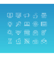 set 20 icons and sign in mono line style vector image vector image
